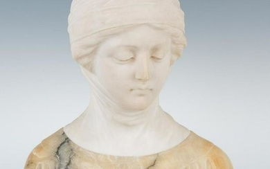 Marble Bust of a Maiden with Veil