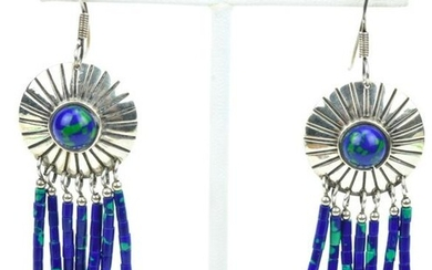 Native American Sterling Silver Turquoise Earrings