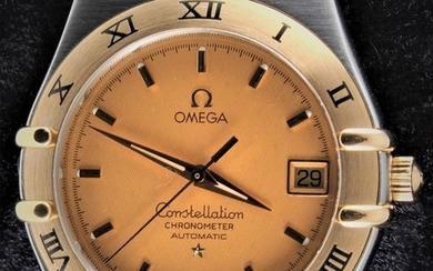 Omega - Constellation Yellow Gold - Automatic Chronometer- Ref. No: 368.1201 - Excellent Condition - Warranty - Men - 1990-1999