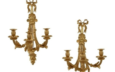 PAIR OF ORIGINAL LOUIS PERIOD SCONCES XVI