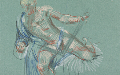PAUL CADMUS (1904 1999) Two color crayon drawings of reclini