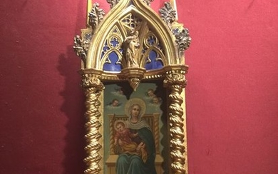 Painting (1) - Gilt, Lacquer, Wood - Second half 19th century