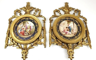 Pair of Magnificent 19th C. Framed Sevres Porcelain