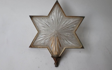 Rare six-pointed star-shaped hanging or wall light in...