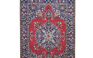 Red Semi Antique Persian Tabriz Pure Wool Exc Condition