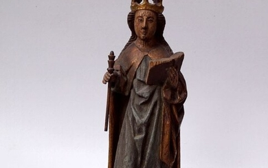 Sculpture, Madonna - 73 cm - Gothic Style - Limewood - Late 19th century
