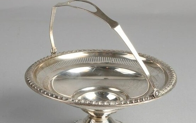 Silver handle bowl, 925/000, round model on round base