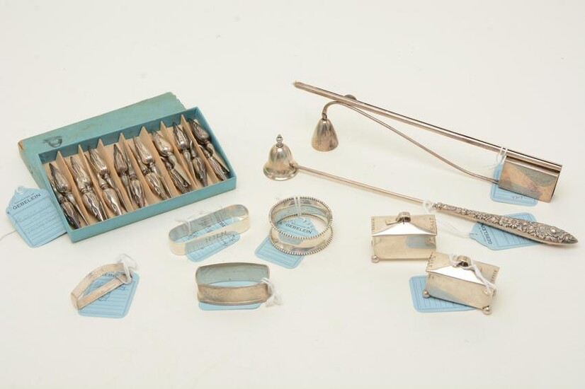 Sterling silver tableware and accessories. 20th