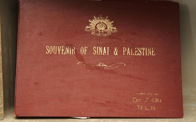 TWO BOUND PHOTOGRAPH ALBUMS, 'SOUVENIR OF SINAI & PALESTINE'; AND 'SOUVENIR OF PALESTINE', INSCRIBED TITLES AND 'AUSTRALIAN COMMONWE...