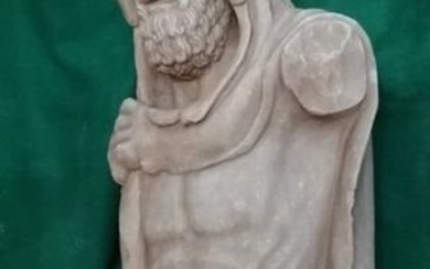 Torso of Hercules with Leontea - Neoclassical Style - Marble - First half 20th century