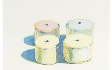 Wayne Thiebaud: Four Cakes (from Recent Etchings I)