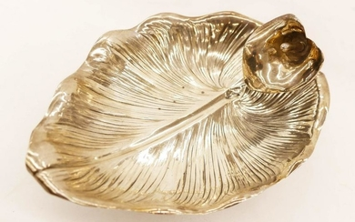 Whiting Aesthetic Sterling Calla Lily and Leaf Dish