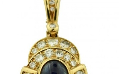 18K Gold, Sapphire and Diamond Pearl Enhancer