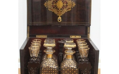 19th Century French Napoleon III Cave a Liqueur Mother of Pe...