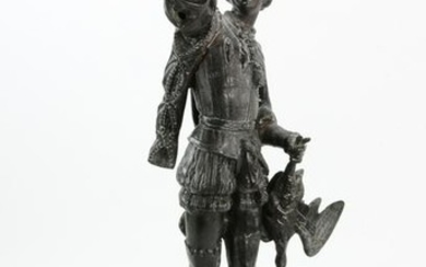 19thC French Metal Figural Sculpture