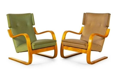 Alvar Aalto A Pair of Model 36 Lounge ChairsFinmar,