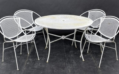 5 pc TEMPESTINI Patio Dining Set. Table and 4 chairs. P