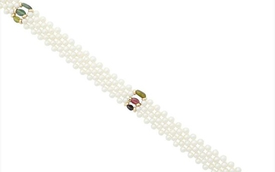 A 14ct cultured pearl necklace