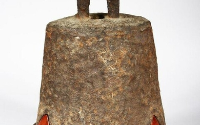 A 15TH / 16TH CENTURY CHINESE CAST IRON TEMPLE BELL