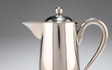 A CHINESE SILVER HOT WATER JUG, Wing Nam & Co, late