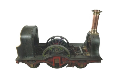A CONTEMPORARY 9¾ inch GAUGE MODEL OF AN N.E.R. HAWTHORN LESLEY 2-2-2 LOCOMOTIVE