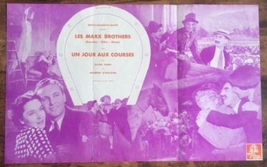 A DAY AT THE RACES – VINTAGE FRENCH HERALD POSTER –