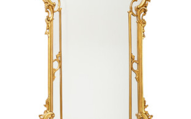A FRENCH REGENCE-REVIVAL STYLE CONSOLE TABLE WITH PIER MIRROR, 19TH CENTURY