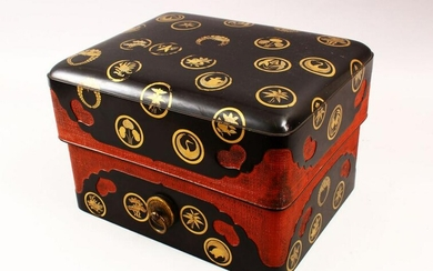 A GOOD JAPANESE MEIJI PERIOD LACQUER & GILT DECORATED