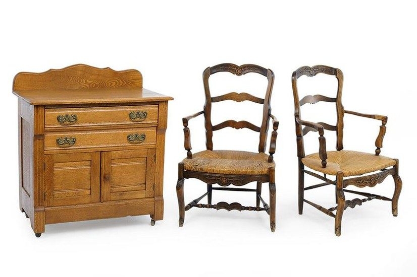 A Pair of French Provincial Chairs.