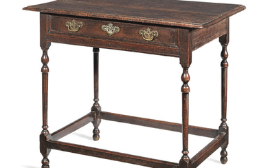 A Queen Anne joined oak side table, circa 1715