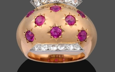 A Ruby and Diamond Ring, by Van Cleef & Arpels,...