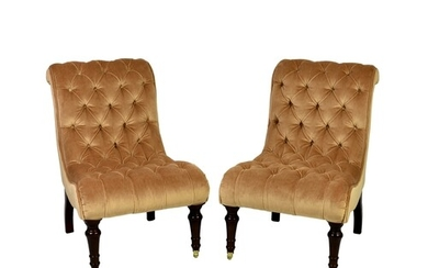 A pair of George Smith Ltd. of Newcastle 'Brewster Chairs', ...