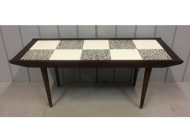 A retro, tile effect coffee table by Remploy. Dates from 196...