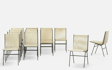 Allan Gould, dining chairs, set of twelve