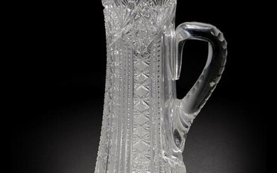 An American brilliant-cut glass pitcher