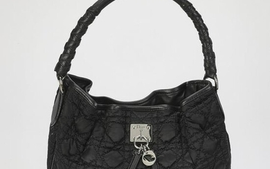 Authentic Dior Cannage Nylon Hobo Bag