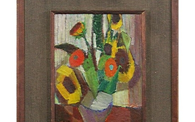 BLANCHE LAZZELL 1942, O/b Modernism Abstract Still Life