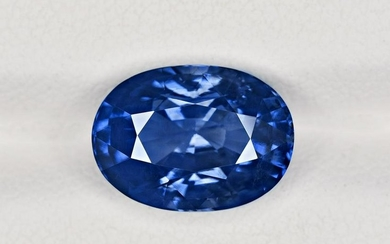 Blue Sapphire, 6.13ct, Mined in Madagascar, Certified