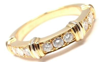 CARTIER 18K YELLOW GOLD DIAMOND BAND RING, SIZE 48 US 5