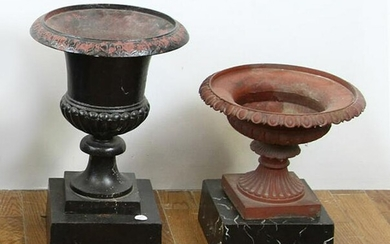Cast Iron Urns on Bases