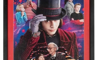 Charlie and the Chocolate Factory Poster. 2005. Framed