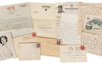 Collection of Stage Performer Letters and Ephemera.