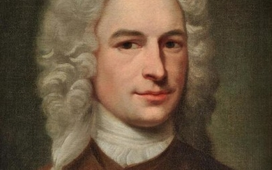 English School (18th century), Portrait of a man