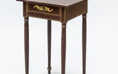 Federal Paint-decorated Pine One-drawer Stand