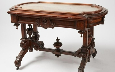 Fine Marble Top Hall Center Table