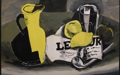 Georges Braque, Manner of: Study for Pichet et Journal