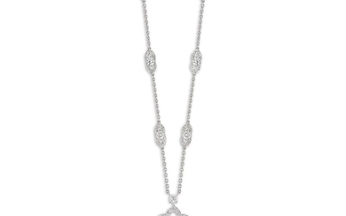 Graff, A Diamond 'Rosette' Pendant Necklace, Graff