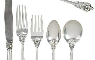 Grand Baroque Sterling Flatware, 72 Pieces