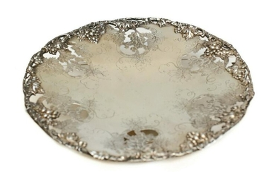 International Sterling Co Sterling Silver Cake Plate