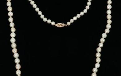 JAPANESE BAROQUE PEARL NECKLACE & GOLD CLASP